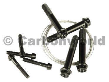 Screw kit CW Racingparts Titan black for Ducati Hypermotard 1100 – Image 1