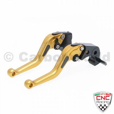 brake and clutch lever gold CNC Racing for Ducati