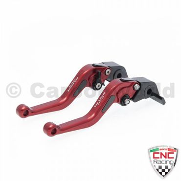 brake and clutch lever red CNC Racing for Ducati