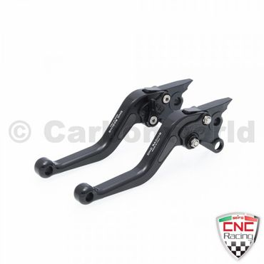 brake and clutch lever black CNC Racing for Ducati