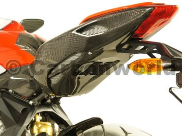 tail heat cover carbon fiber for MV Agusta F3 Brutale 675 800 – Image 2