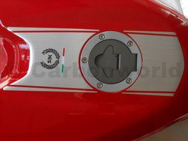 decal sticker stripes kit brushed aluminium for Ducati  848 1098 1198 – Image 1