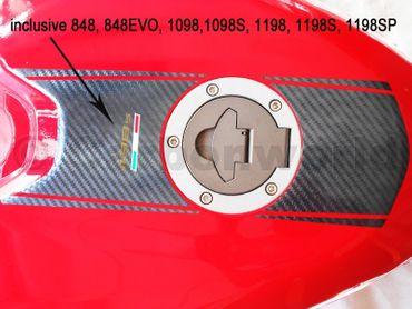 Adesivi kit striscia carbonio per Ducati 848 1098 1198 – Image 2