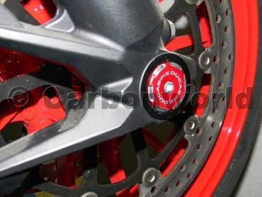 front wheel caps kit racing red Ducabike for Ducati Monster 696 620 900 1000 S2R S4R – Image 3