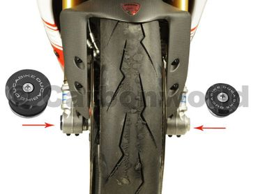 front wheel caps black kit Ducabike for Ducati Diavel, 899 / 1199 Panigale – Image 3