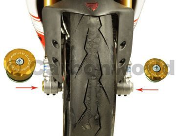 front wheel caps gold kit Ducabike for Ducati Diavel, 899 / 1199 Panigale – Image 3