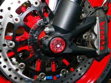 front wheel caps kit racing red Ducabike for Ducati Diavel, 899 / 1199 Panigale – Image 4