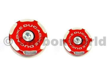 front wheel caps kit racing red Ducabike for Ducati  748 - 998, 749 - 999 – Image 1