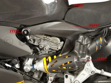 frame cover kit carbon mat for Ducati 1199 Panigale – Image 4