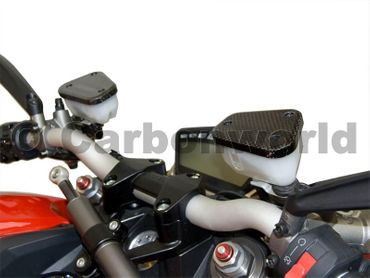 fluid container cover carbon mat for Ducati Streetfighter – Image 2