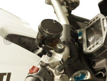 Coperchio contenitore dell\'olio dei freni carbonio opaco per Ducati – Image 2