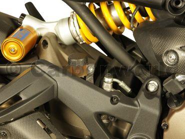 Flüssigkeitsbehälterdeckel-Set Carbon matt für Ducati Monster, Panigale, MTS – Bild 7