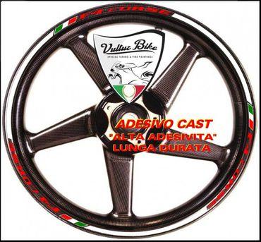 Autocollants stickers pour rebord de jante blanc pour MV Agusta F4 – Image 1