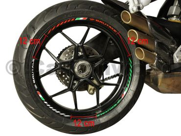 decal sticker kit wheel stripes tricolore for MV Agusta Brutale – Image 3