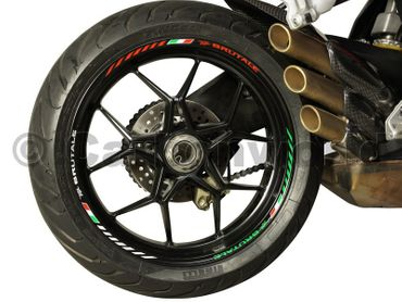 decal sticker kit wheel stripes tricolore for MV Agusta Brutale – Image 1