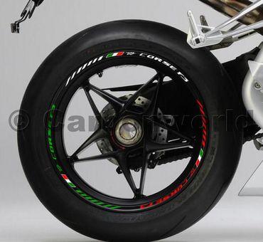 Felgenrandaufkleber tricolore für MV Agusta  F3 – Bild 1