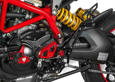 Passenger rear sets black CNC Racing for Ducati Hypermotard 821 – Image 2