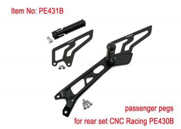 Adjustable rear sets black CNC Racing for Ducati Hypermotard 821 – Image 4
