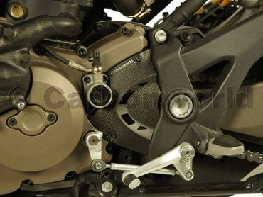 sprocket cover carbon mat for Ducati Monster 1200 – Image 2