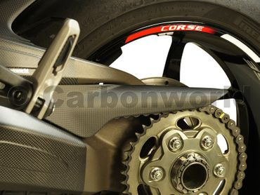 chain guard carbon mat for Ducati Monster 1200 – Image 4