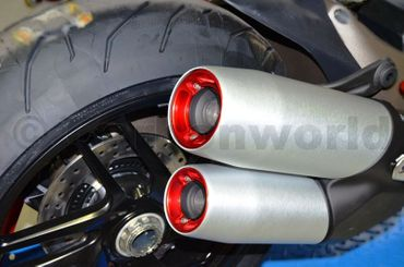 Bottom exhaust Ducabike red for Ducati Monster 1200 – Image 5