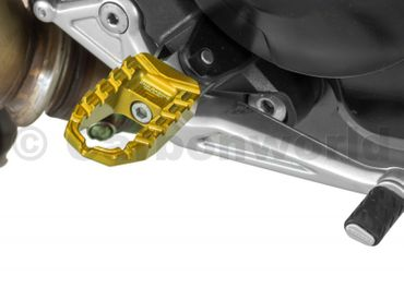 foot pegs gold  CNC Racing for Ducati Hypermotrad 821