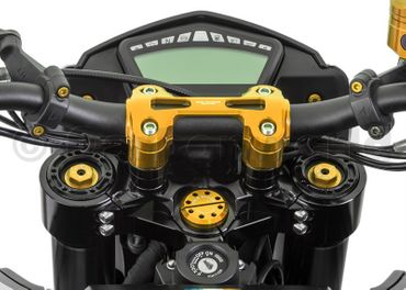 Riser (Ø22) completo oro CNC Racing per Ducati Hypermotrad 821 – Image 3