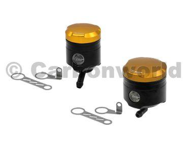 Flüssigkeitsbehälter schwarz gold CNC Racing für Ducati 848 1098 1198