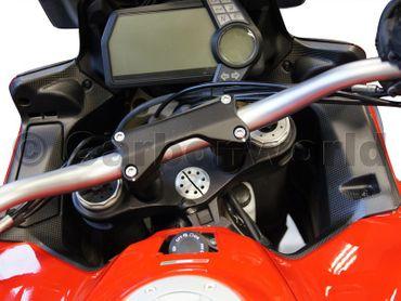 carbon fiber mat Instruments covers for Ducati Multistrada 1200 2013-2014 – Image 11