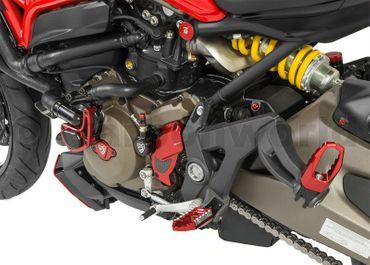 Rahmenstopfen Kit rot CNC Racing für Ducati Monster 821 1200 – Bild 2