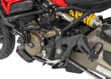Rahmenstopfen Kit schwarz CNC Racing für Ducati Monster 821 1200 – Bild 2