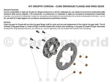 sprocket Z39 P525 CNC Racing black for Ducati – Image 5