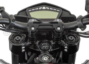 Lenkerbrücke schwarz (+20cm, Ø22) CNC Racing für Ducati Hypermotard 821 – Bild 2