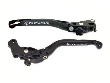 brake and clutch lever black Ducabike for Ducati  Monster 821, Hypermotard 821, Scrambler