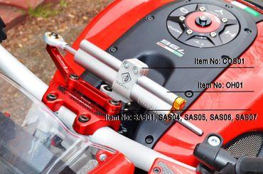 Lenkungsdämpfer Halter gold Ducabike für Ducati Monster  696 / 1100 / 1100S / 1100 EVO – Bild 2