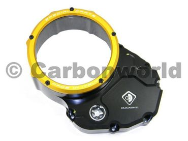 Clutch cover for oil bath clutch black/gold Ducabike for Ducati Monster, Hypermotard – Image 1