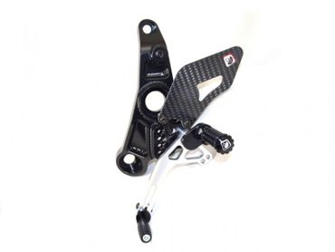 adjustable rearset Ducabike black/silver for Ducati Monster 821 1200 – Image 2