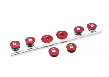 frame plugs red CNC Racing for MV Agusta Brutale 675 800 – Image 1