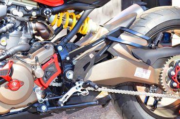 passager repose pieds Ducabike noir pour Ducati Monster 821 1200 – Image 5