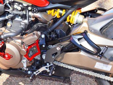 Passenger rear pegs Ducabike black for Ducati Monster 821 1200 – Image 8