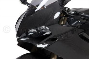 Kanzelabdeckung mit GPS-Halter carbon für Ducati 899 1199 Panigale – Bild 4