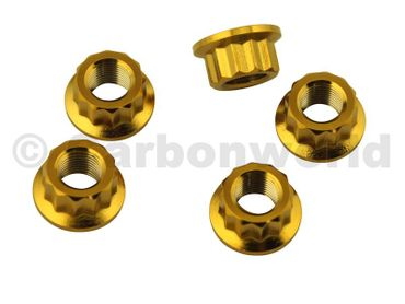 sprocket flange nut CW Racingparts Titan gold for Ducati Streetfighter 848 – Image 1