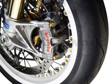T029DM Bremssattel Schrauben Satz aus Titan gold für Ducati Monster 821 1200 – Bild 2