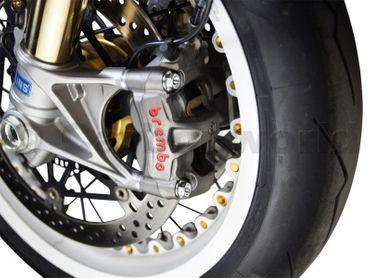 Bremssattel Schrauben Satz CW Racingparts aus Titan silber für Ducati Panigale – Bild 2