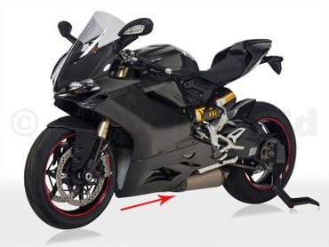 exhaust protector left carbon - Termignoni - for Ducati 899 1199 Panigale – Image 2