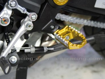 touring pegs kit gold CNC Racing for Ducati Monster 821 1200 – Image 2