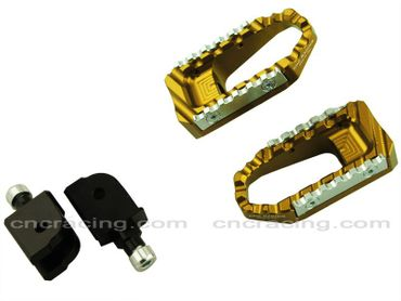 touring pegs kit gold CNC Racing for Ducati Monster 821 1200 – Image 1