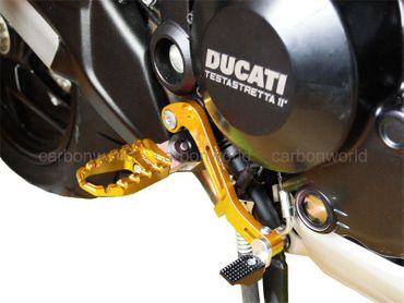 Touring pegs gold CNC Racing for Ducati Monster 821 1200 – Image 3