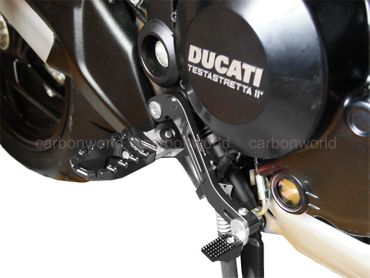 Touring pegs black CNC Racing for Ducati Monster 821 1200 – Image 2