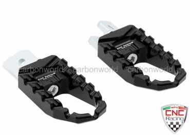 Touring pegs black CNC Racing for Ducati Monster 821 1200 – Image 1